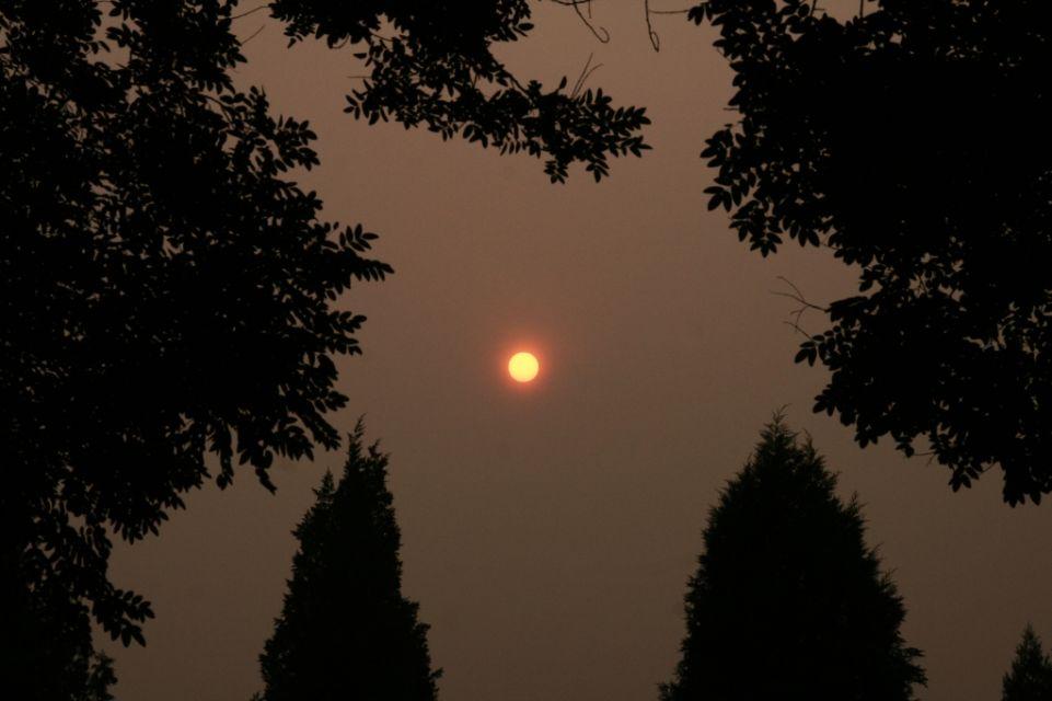 China,Peking,Smog,Himmelstempel