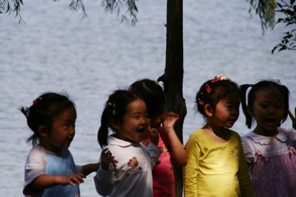Kinder,China,Peking,Sommerpalast