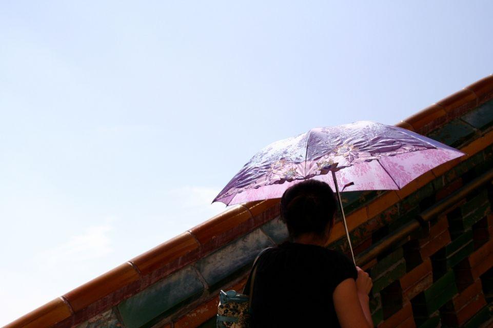 China,Peking,Sommerpalast,Regenschirm