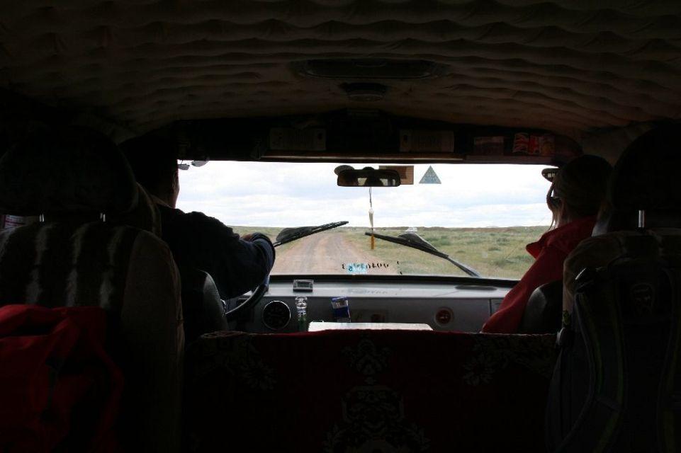Mongolei,Gambda,im Auto