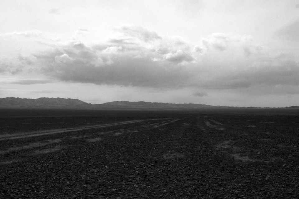 Mongolei,B & W