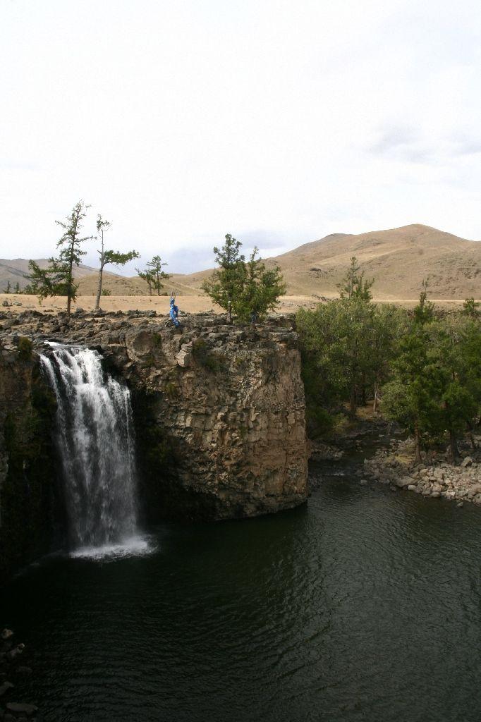Mongolei,Wasserfall