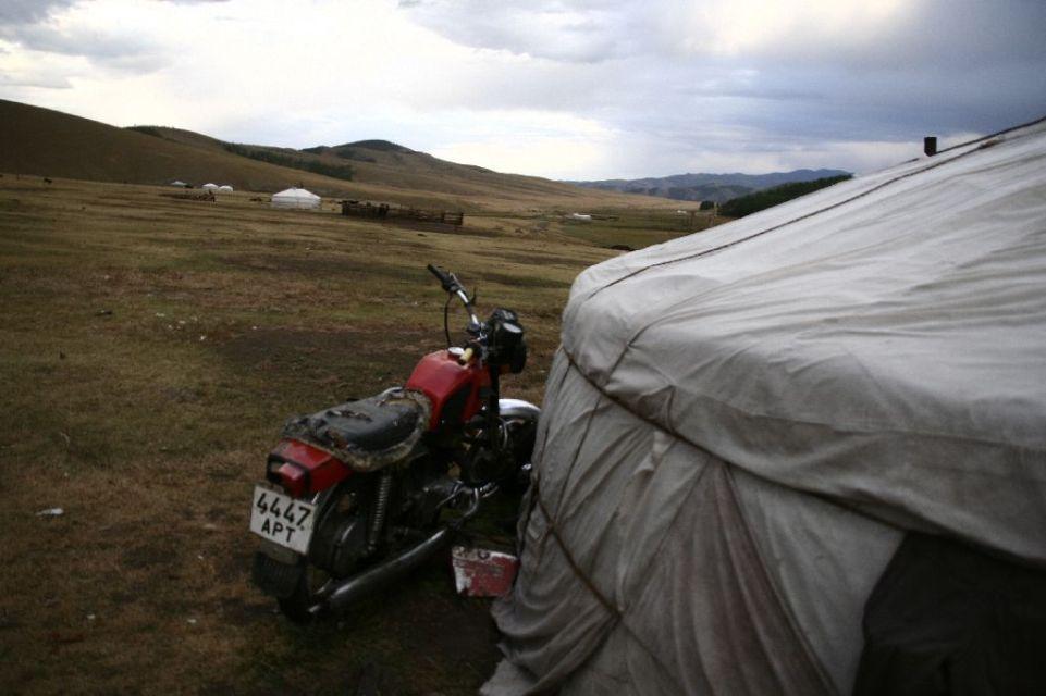 Mongolei,Jurte,Motorrad,Tsenkher Jiguur