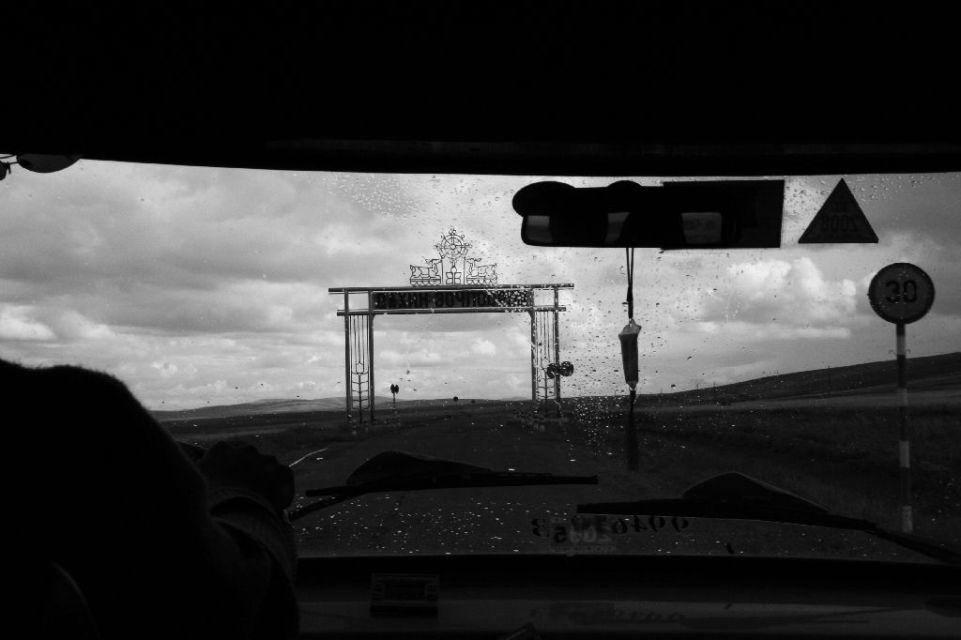 Mongolei,Regen,B & W