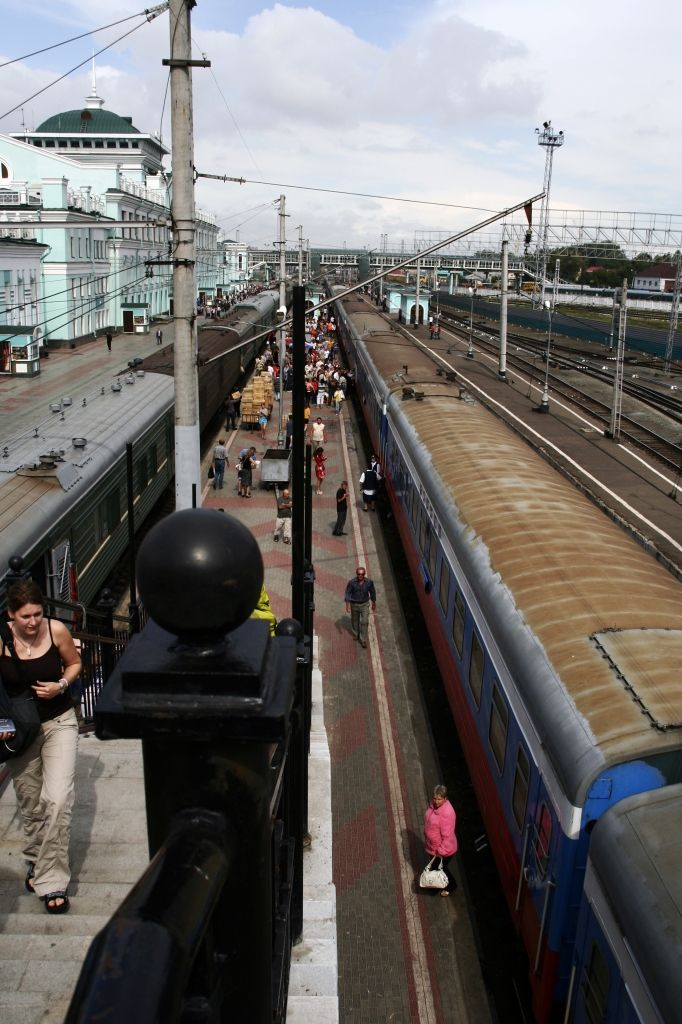 Zug,Russland,Bahnhof,Omsk