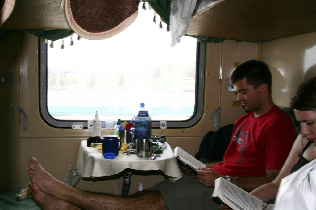 Zug,Russland,Abteil