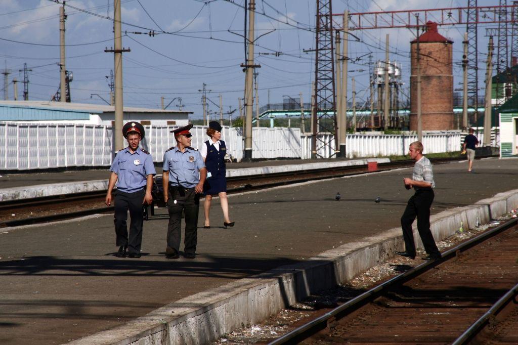 Russland,Bahnhof,Soldat