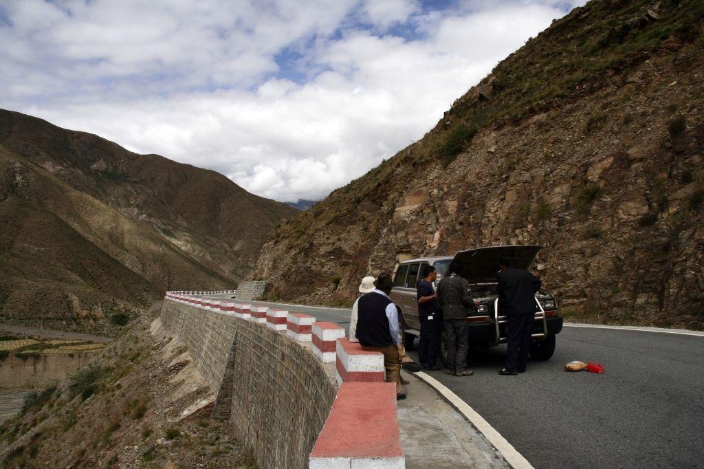 Tibet,Autopanne