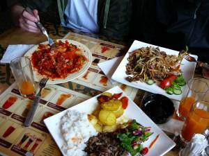 Erstes Essen in der Mongolei